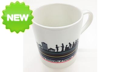 本学先生のデザイン(ラインアート)のマグカップです。